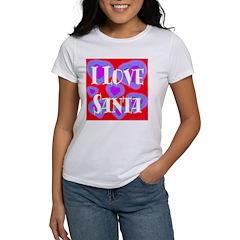 I Love Santa Women's T-Shirt