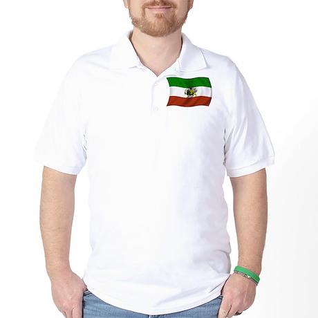 Wavy Pahlavi Dynasty Flag Golf Shirt