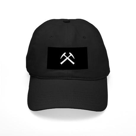 Crossed Rock Hammers Black Cap