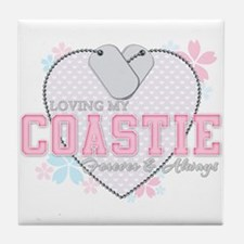 Loving My Coastie Forever and Tile Coaster