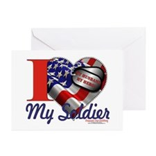 I love My Soldier Logo 1 Greeting Cards (Pk of 20)
