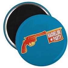 Joke Bachelor Gun Magnet