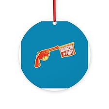 Joke Bachelor Gun Ornament (Round)