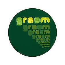 """Green Groom Blox 3.5"""" Button"""
