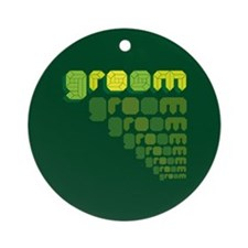Green Groom Blox Ornament (Round)