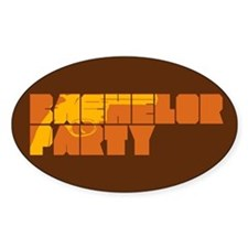 Mafia Bachelor Party Oval Decal