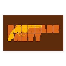 Mafia Bachelor Party Rectangle Decal