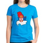 Map Of Serbia Women's Dark T-Shirt