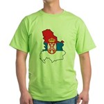Map Of Serbia Green T-Shirt