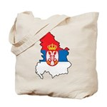 Map Of Serbia Tote Bag