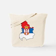 Map Of Serbia Tote Bag