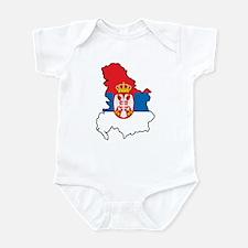 Map Of Serbia Infant Bodysuit
