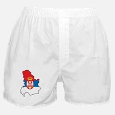 Map Of Serbia Boxer Shorts