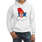 Map Of Serbia Hooded Sweatshirt