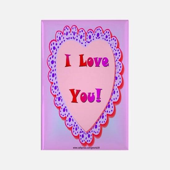 I Love You Rectangle Magnet