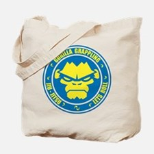 Lets Roll Blue Circle Tote Bag