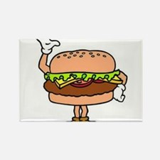Burger Man Rectangle Magnet (10 pack)