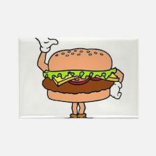 Burger Man Rectangle Magnet
