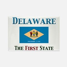 Delaware 1st State Rectangle Magnet