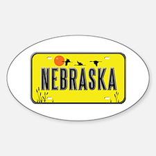Nebraska Oval Stickers