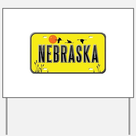 Nebraska Yard Sign