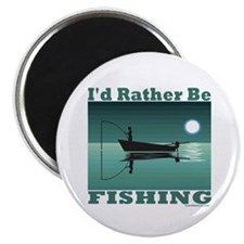 I'd Rather Be Fishing Magnet