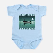 I'd Rather Be Fishing Infant Bodysuit