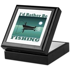 I'd Rather Be Fishing Keepsake Box
