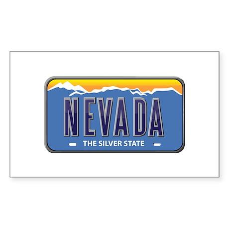 Nevada Rectangle Sticker 10 pk)
