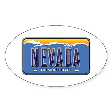 Nevada Oval Sticker
