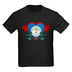 Heart Belize Kids Dark T-Shirt