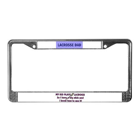 LACROSSE DAD License Plate Frame