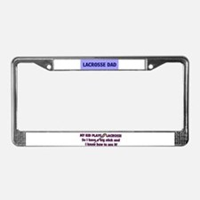 LACROSSE DAD License Plate Frame