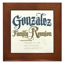 Gonzalez Family Reunion Framed Tile