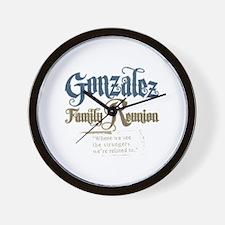 Gonzalez Family Reunion Wall Clock