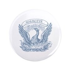 """Adamczyk Vintage Patriotic Eagle 3.5"""" Button"""