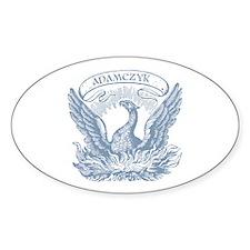 Adamczyk Vintage Patriotic Eagle Oval Decal