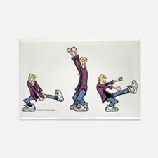 Dancing Jeremy Rectangle Magnet