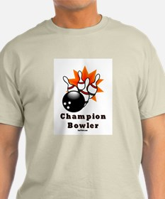 Champion Bowler Dad T-Shirt