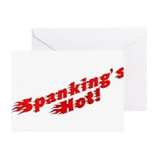 Spanking's Hot! Greeting Card