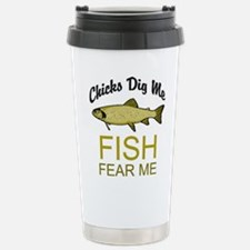 Fish Fear Me Stainless Steel Travel Mug