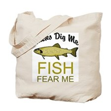 Fish Fear Me Tote Bag