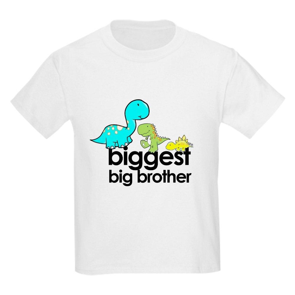 CafePress biggest big brother t-shirt dinosaur Kids Light T-