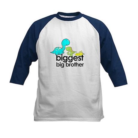 biggest big brother t-shirt dinosaur Kids Baseball
