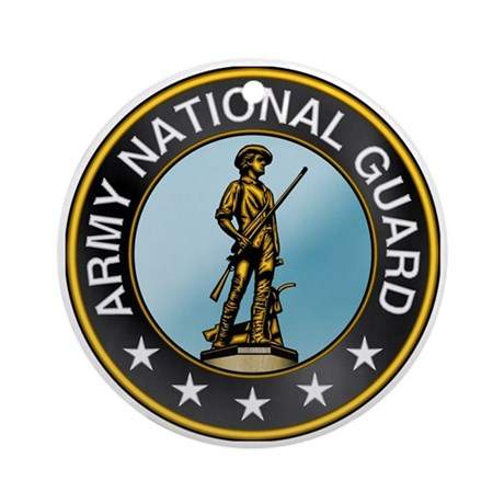Army National Guard Ornament (Round)