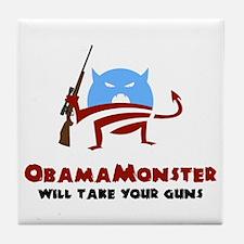Takes Your Guns Tile Coaster