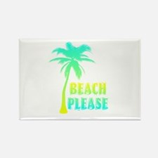 palm tree beach please Magnets