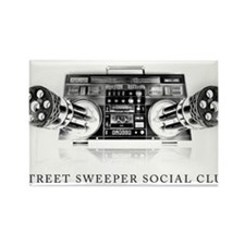 Street Sweeper Social Club Rectangle Magnet