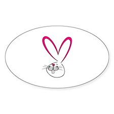 Bunny Love Oval Decal
