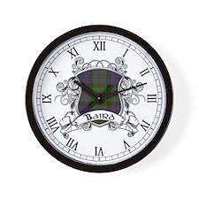Baird Tartan Shield Wall Clock